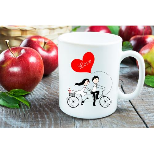 Kubek Love on a bicycle