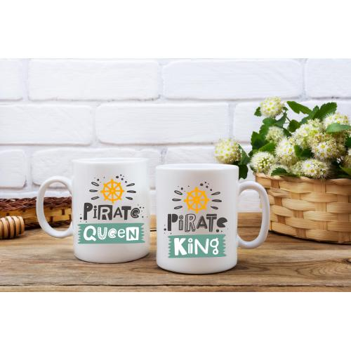Kubek z nadrukiem 2 sztuki Pirate King & Pirate Queen
