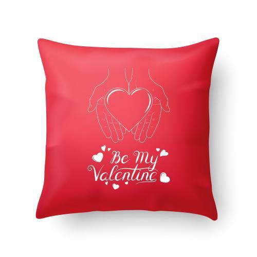 Czerwona PODUSZKA druk Be my Valentine