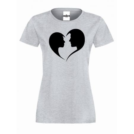 T-shirt lady Faces in a heart