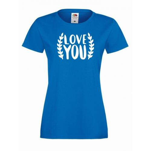 T-shirt lady Love you 2