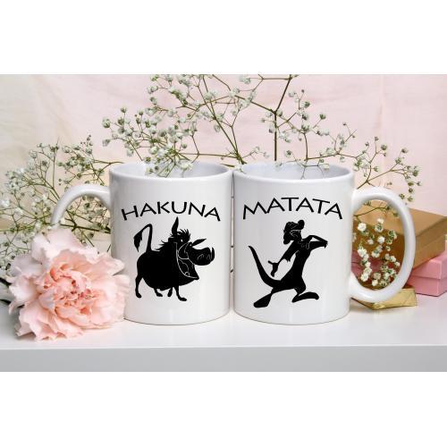 Kubek z nadrukiem 2 sztuki Hakuna Mataya