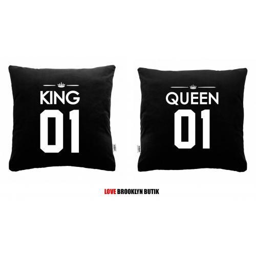 Poduszki czarne King 01 & Queen 01