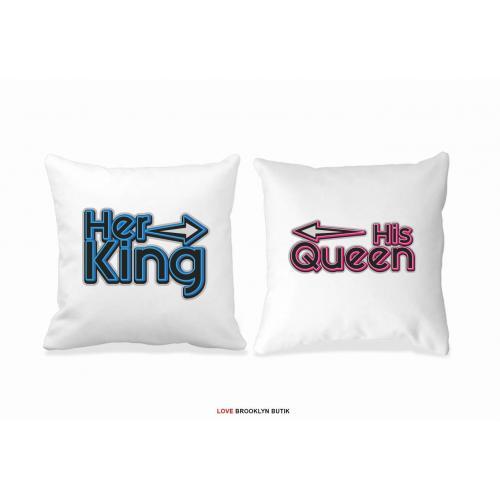 Poduszki Her King & His Queen w galaktyce 2 szt