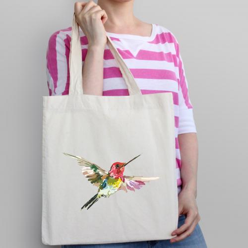 Torba bawełniana ecri colorful humming-bird