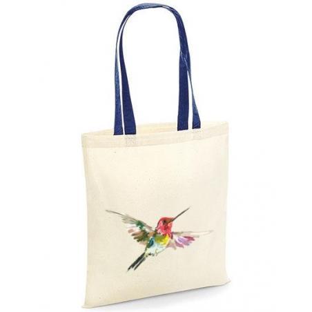 Torba bawełniana colorful humming-bird kolorowe