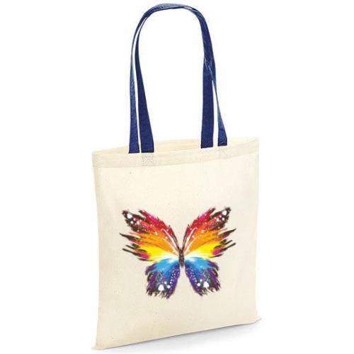 Torba bawełniana olorful butterfly kolorowe