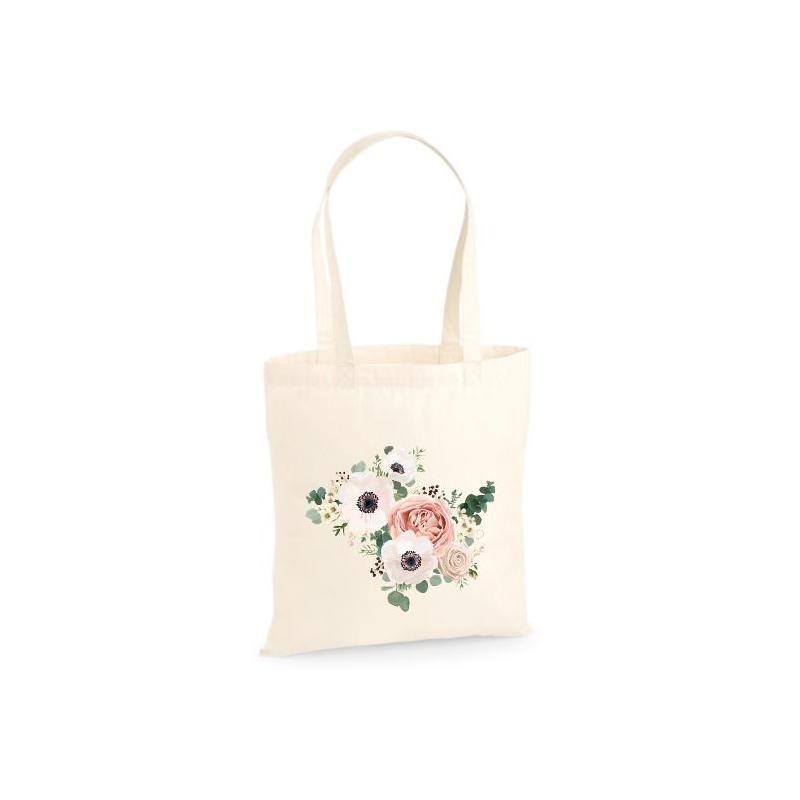 Torba bawełniana ecri flowers