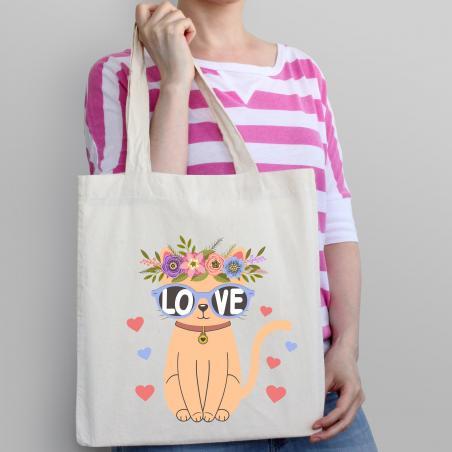 Torba bawełniana ecri cat love
