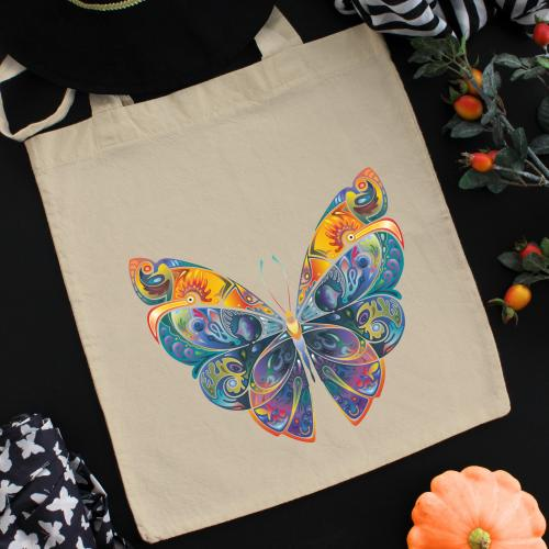 Torba bawełniana ecri fairytale butterfly