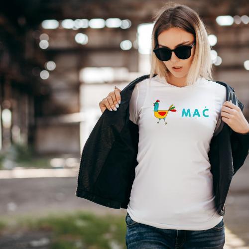 t-shirt na dzień kobiet kura mać