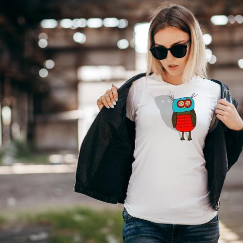 T-shirt lady slim DTG cactus