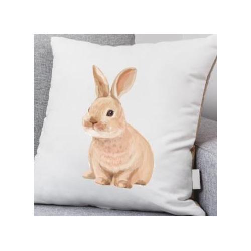PODUSZKA biała DTG rabbit fly