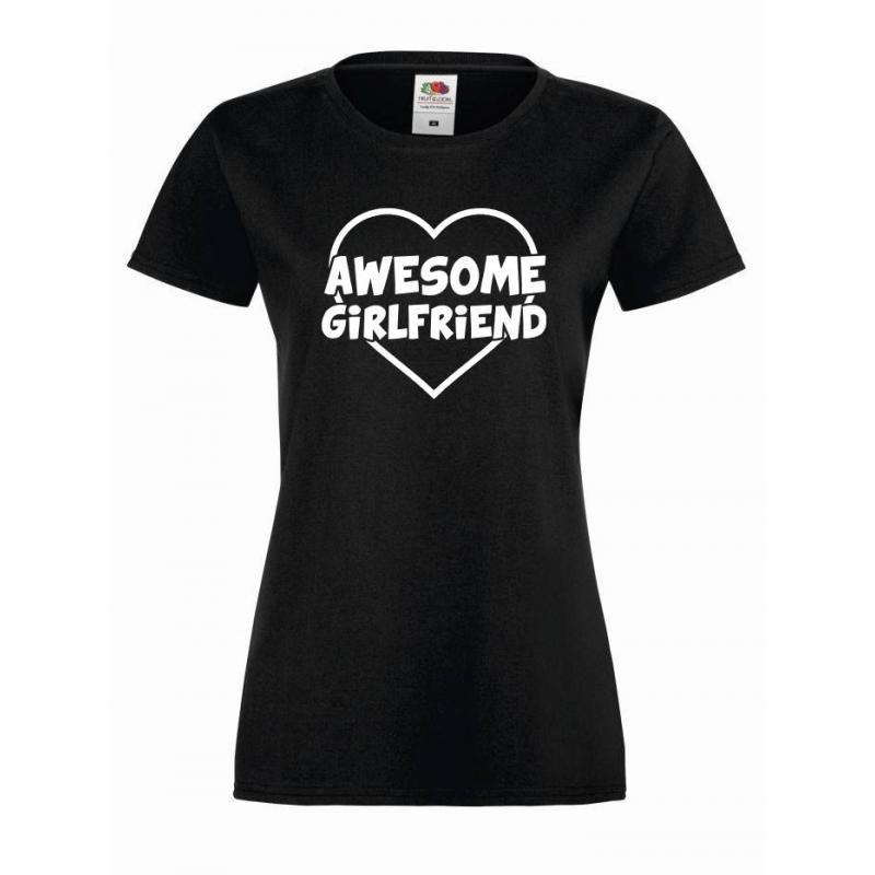T-shirt lady AWESOME GIRLFRIEND