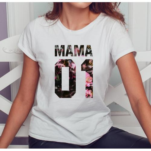T-shirt lady slim DTG MAMA 01