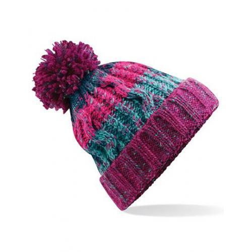 czapka pompon gruba ecru