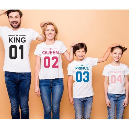 T-shirty dla rodziców i dzieci 4 szt