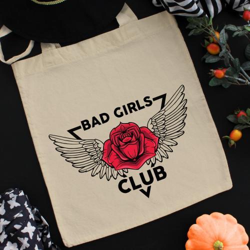 Torba bawełniana ecri bad girls club