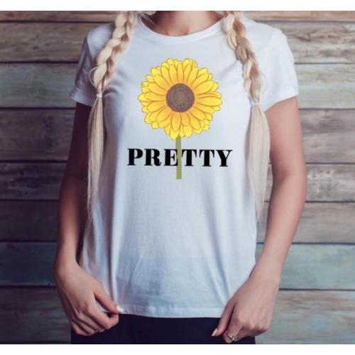 T-shirt lady slim DTG pretty