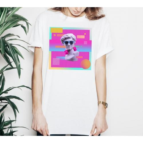 T-shirt lady slim DTG david Earphone
