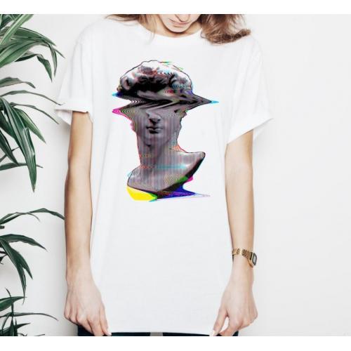 T-shirt lady slim DTG classical sculpture David