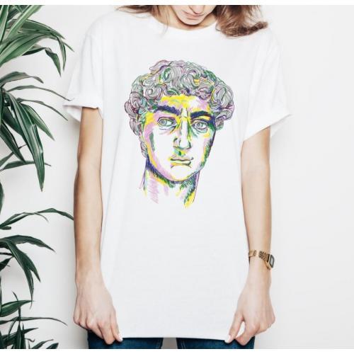 T-shirt lady slim DTG david Renewal