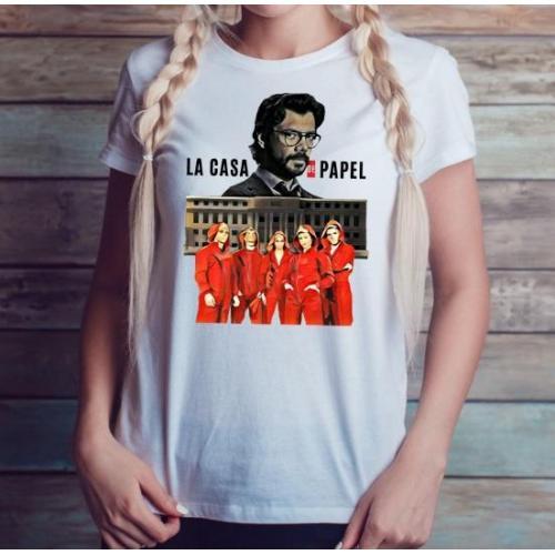 T-shirt lady slim DTG ciao bella !