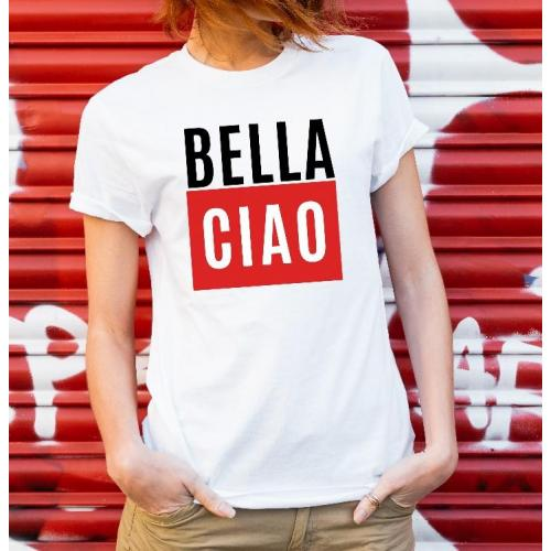 T-shirt lady slim DTG  bella ciao