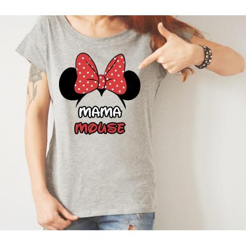 T-shirt lady szary najpiękniejsza mama