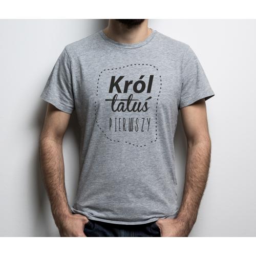 T-shirt  KRÓL TATUŚ 1 szara