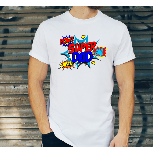 T-shirt oversize DTG super dad pow