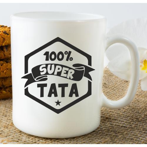 Kubek z nadrukiem 100 %  SUPER TATA