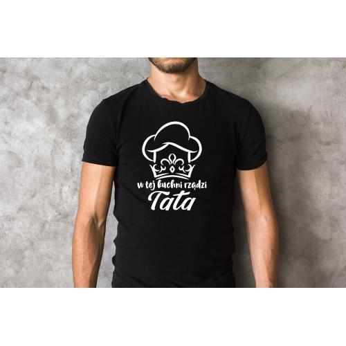 T-shirt oversize W tej kuchni rządzi tata