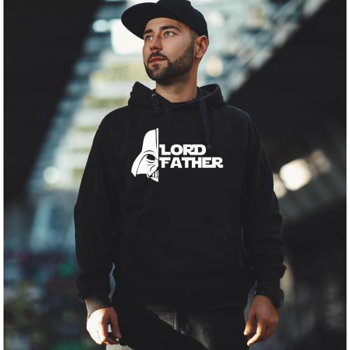 Bluza z kapturem szara/czarna Lord father