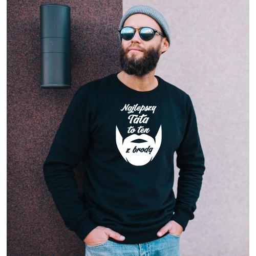 bluza najlepszy tata to ten z brodą czarna