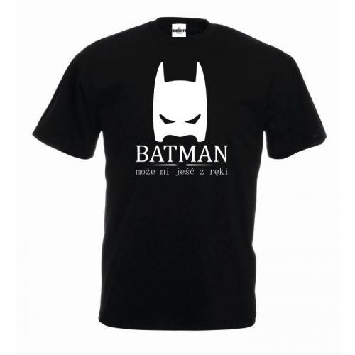 koszulka batman czarno-biała