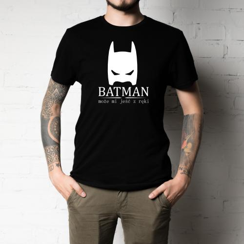 t-shirt batman biało-czarna