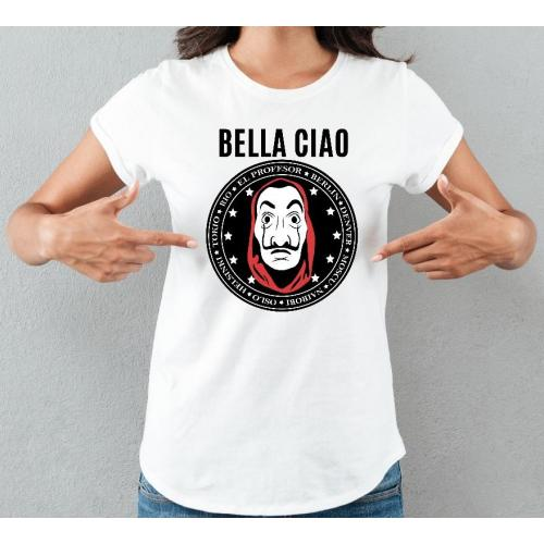 T-shirt lady slim DTG bella ciao