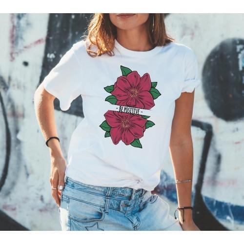 T-shirt lady slim DTG  van gogh