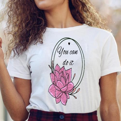 T-shirt lady slim DTG  Bieszczady