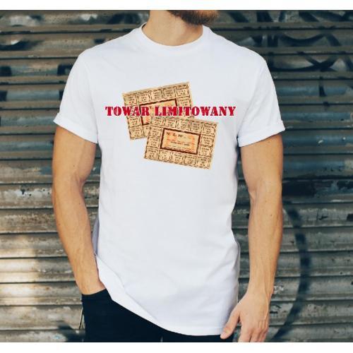 T-shirt oversize DTG w służbie narodu milicja - PRL