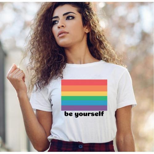 T-shirt lady slim DTG wychowała mnie ulica