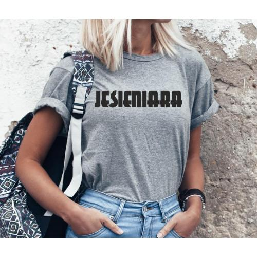 T-shirt lady szara Jesieniara