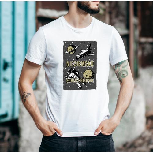 T-shirt oversize DTG Nieziemsko super chłopak 2