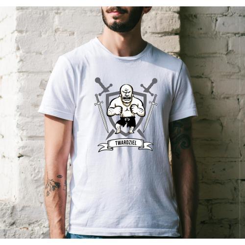 T-shirt oversize DTG Twardziel 2