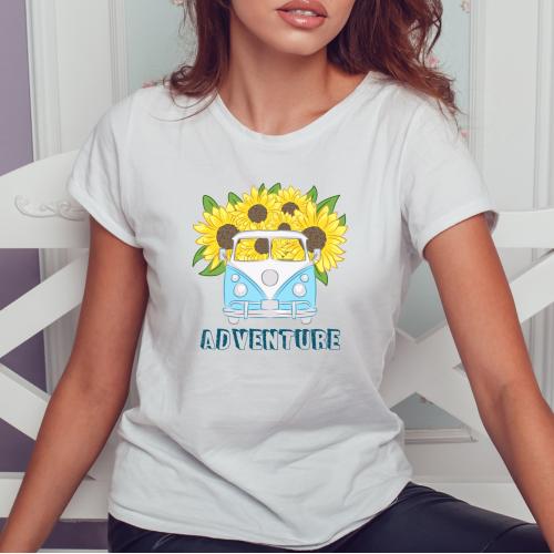 T-shirt lady slim DTG  adventure