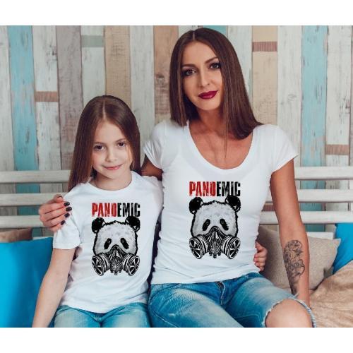 T-shirty dla mamy i córki Pandemic 2 szt