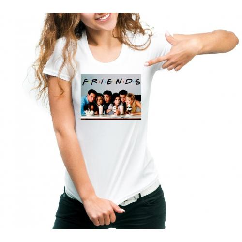 T-shirt lady slim DTG friends names