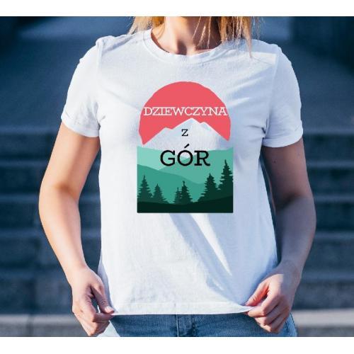 T-shirt lady slim DTG  Bieszczady Bieszczady