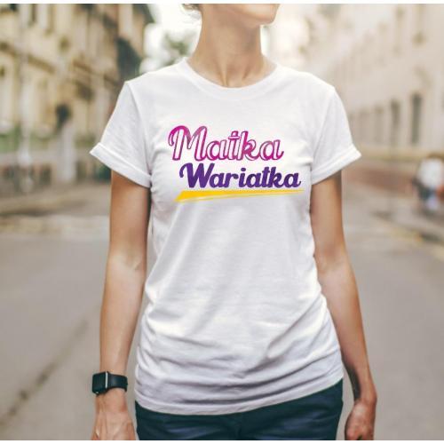 T-shirt lady slim DTG  Jej wysokość mama 2